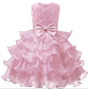 Other - Little Girls Pink Floral party/wedding dresses (2)